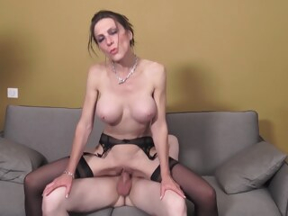 sixtine - horny french cougar letting two repair men fuck her in the ass Sixtine - Horny French Cougar Letting Two Repair Men Fuck Her In The Ass