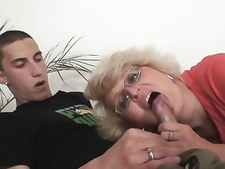 blowjob blonde Secretly mother boy fucking in the next room