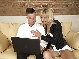 mature blowjob Young son spoiling lovely mom